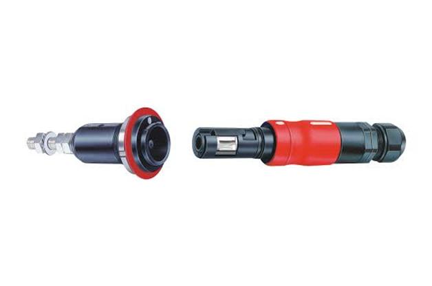 大電流用コネクタ 単極 絶縁体付きロック付き 定格300Aまで
